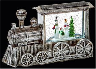 PREMIER LB184645  29Cm Silver Train Water Spinner Whit Led